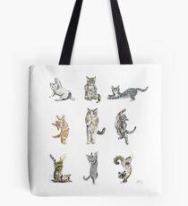 Yoga Cats Tote Bag