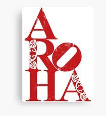 Aroha (amour pour les gens) Impression sur toile