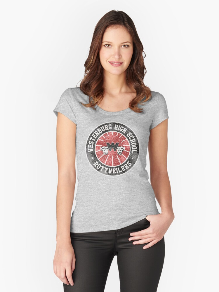 Westerburg High School (Heathers) Women's Fitted Scoop T-Shirt Front