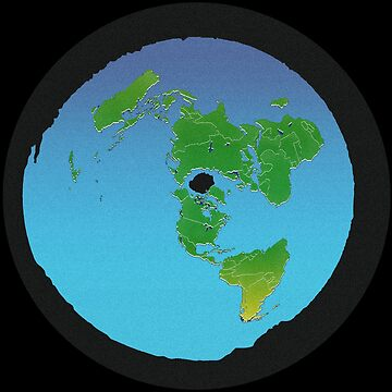 Flat Earth Map - BACK TO BLACK by flatearth1111