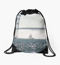 Sails Against the Fog Drawstring Bag