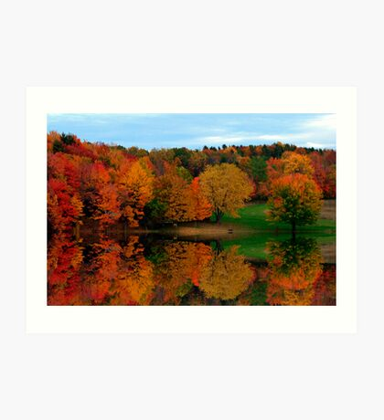 Brown's Pond with Fall Reflections Art Print