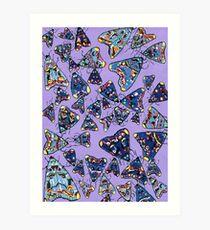 Lily Moths Art Print