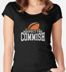 Respect the Commish Logo Women's Fitted Scoop T-Shirt
