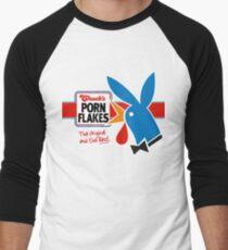 Porn Flakes Men's Baseball ¾ T-Shirt