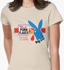 Porn Flakes Womens Fitted T-Shirt