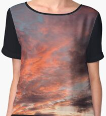 Colourful Sunset Clouds - Anglesey, North Wales Women's Chiffon Top