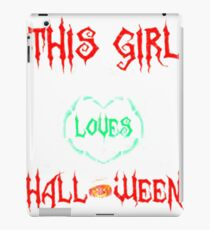 THIS GIRL LOVES HALLOWEEN halloween iPad Case/Skin