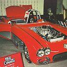 SWEET HEAT 1958 VETTE   by NEIL STUART COFFEY