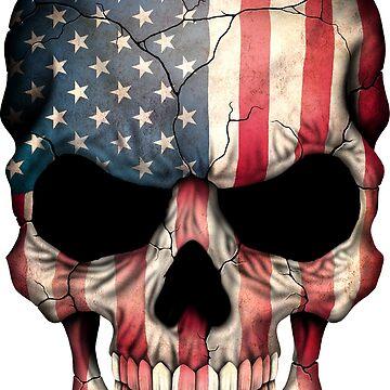 American Flag Skull by teerich