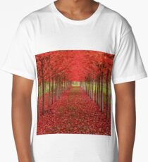 #AUTUMN IN RED Long T-Shirt