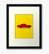 Volvo P1800 (Red) Framed Print