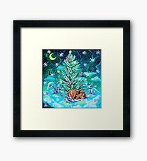 Foxy winter Framed Print