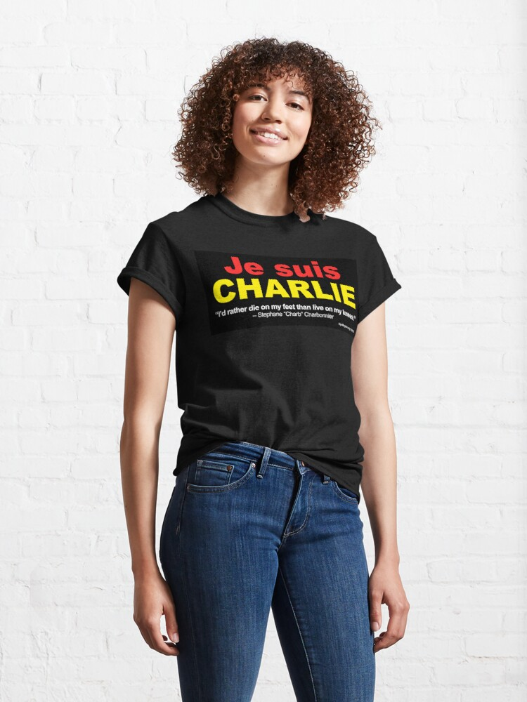 Alternate view of Je Suis Charlie Classic T-Shirt