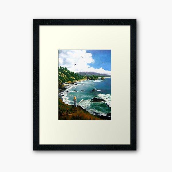 """Sea Gazing"" Framed Art Print"