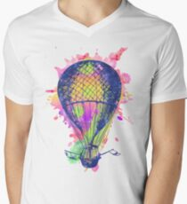 Watercolor hot air baloon AP105 T-Shirt