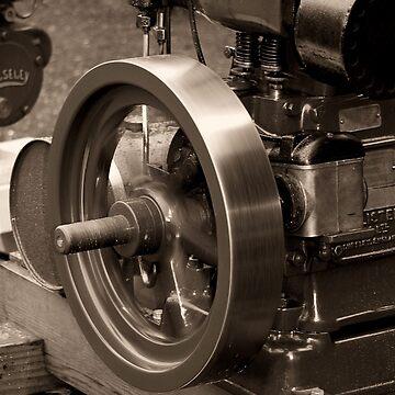 Old Glory Wolseley Engine by patjila