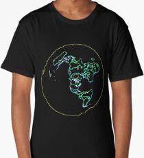 Flat Earth Map  Long T-Shirt