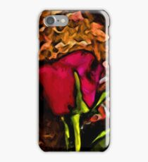 Red Rose and Green Leaf with some Brown iPhone Case/Skin
