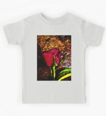 Red Rose and Green Leaf with some Brown Kids Clothes