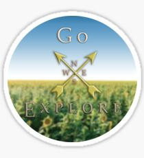 Go Explore - Sunflowers Sticker