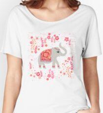 Elephants in the Flower Garden Women's Relaxed Fit T-Shirt
