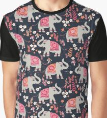 Elephants in the Flower Garden Graphic T-Shirt