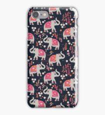 Elephants in the Flower Garden iPhone Case/Skin