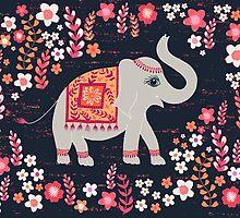 Elephants in the Flower Garden by Jill O'Connor
