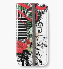 Vintage Music Microphone with Floral 2 iPhone Wallet/Case/Skin