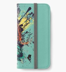 Vintage Music Microphone with Floral 3 iPhone Wallet/Case/Skin