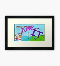 Most Memorable BFDI Quote Ever Framed Print