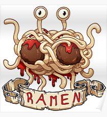Ramen. Flying spaghetti monster church Poster