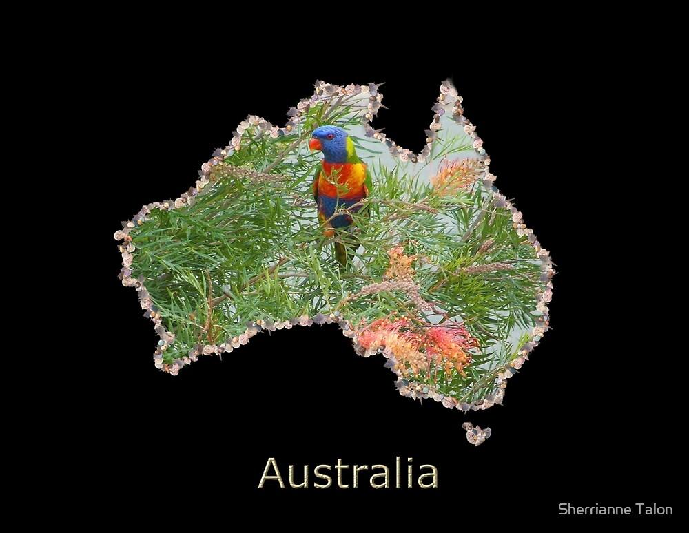 Map of Australia by Sherrianne Talon