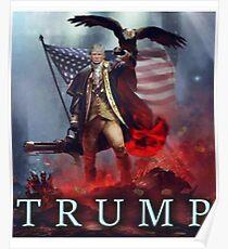 President Trump Patriotic Eagle Poster