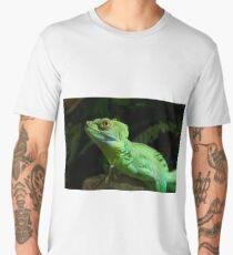 Green Iguana, the beautiful reptile Men's Premium T-Shirt