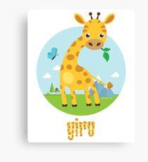Giro the Giraffe Canvas Print