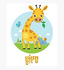 Giro the Giraffe Photographic Print