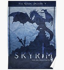 Skyrim Dragon Poster Poster