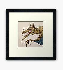 Fire Breathing Dragon illustration Framed Print