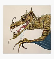 Fire Breathing Dragon illustration Photographic Print