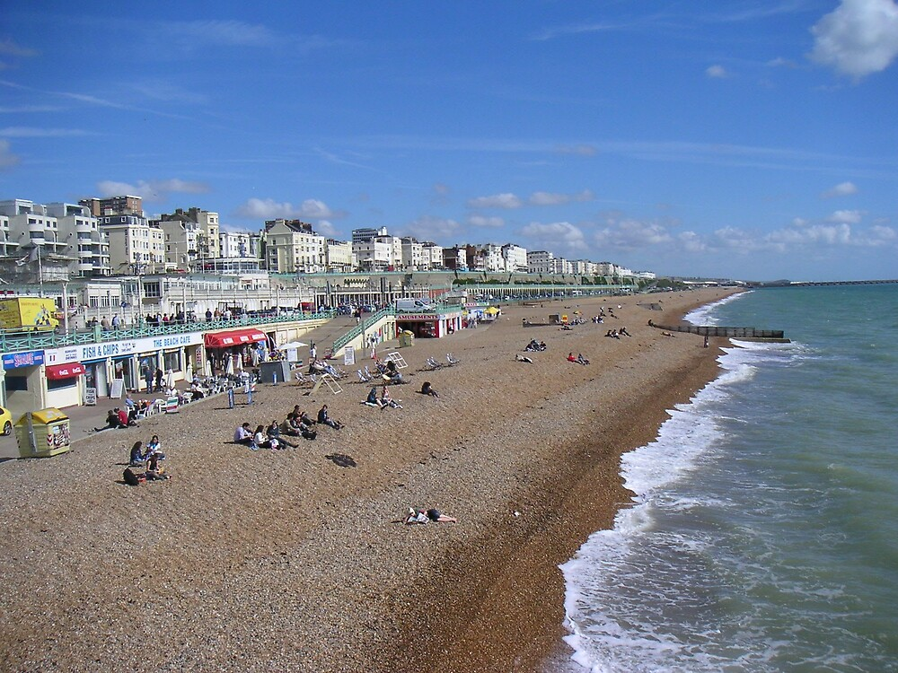 Brighton Beach UK by Ian McKenzie