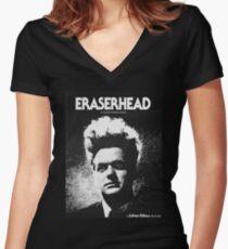 David Lynch - Erasehead Women's Fitted V-Neck T-Shirt