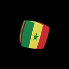 Senegal Flag cubed. by stuwdamdorp