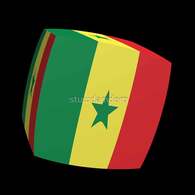 Senegal flag cubed by stuwdamdorp