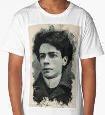 Young Faces from the past Series by Adam Asar, No 15 Long T-Shirt
