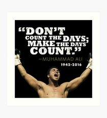 Muhammad Ali Kunstdruck