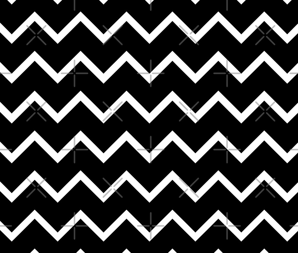 Zig Zag Me Black And White by mindsgallery