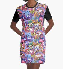 Kandinsky's Kats Graphic T-Shirt Dress