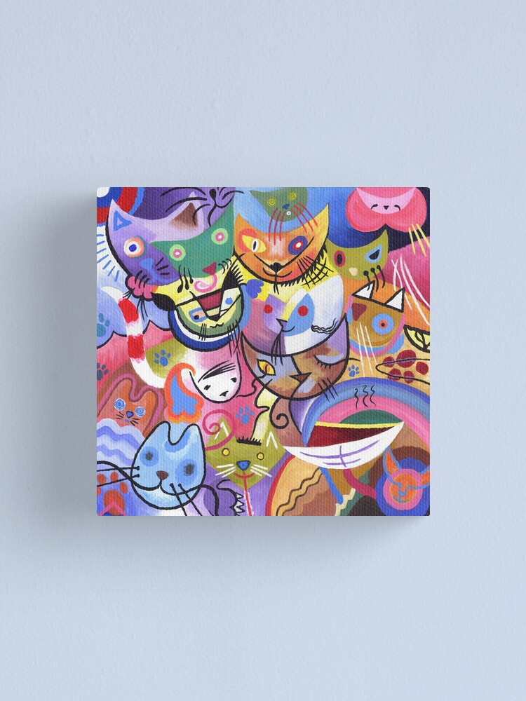 Alternate view of Kandinsky's Kats Canvas Print